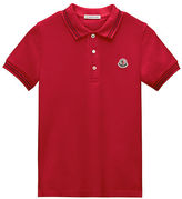 Moncler Tipped Jersey Polo Shirt, Size 4-6