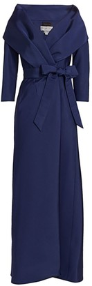 Catherine Regehr Taylor Shawl Collar Silk Gown