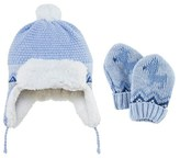 Mayoral Blue Knit Trapper Hat with Mittens