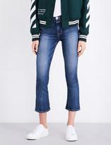 Hudson Brix cropped flared high-rise jeans