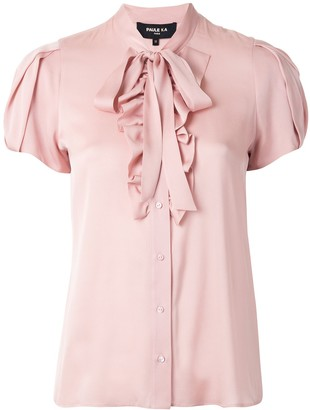 Paule Ka Ruffled Bow Detail Blouse