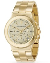 Stainless Steel Gold Plated Chronograph Watch with Bracelet Strap, 38 mm