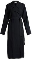 Lemaire Notch-lapel twill wrap dress