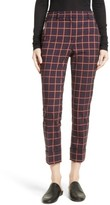 Theory Women's York Plaid Cuffed Crop Pants