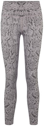 Varley Century snake-print high-rise leggings