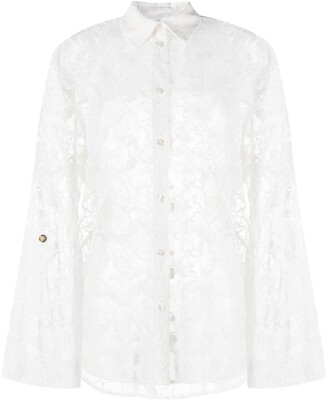 MSGM Lace Long Sleeve Shirt