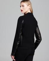 Diane von Furstenberg Jacket - Saskia Leather Detailed
