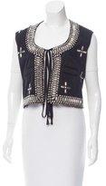 Givenchy Embellished Scoop Neck Vest