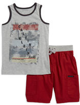 Calvin Klein Jeans Boys 2-7 Two-Piece Sleeveless Tee and Cargo Shorts Set