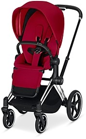 CYBEX ePriam Electronic Assist Stroller with Chrome Black Frame
