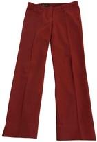 Loro Piana Orange Cotton Trousers for Women