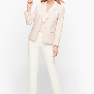 Talbots Biscay Fresh Stripe Two-Button Blazer