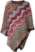 M Missoni chevron knit poncho scarf