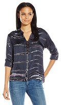 Gypsy 05 Women's Mandarin Collar Shirt with Laced Front