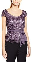 Jacques Vert Women's Chemical Lace Short Sleeve Blouse,Size 8