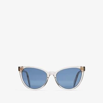 Alexander McQueen AM0111S (Beige/Blue) Fashion Sunglasses