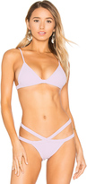 SKYE & staghorn Petite Triangle Bikini Top in Purple. - size L (also in M,S)