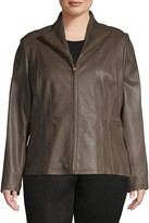 Cole Haan Plus Leather Jacket
