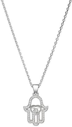 Chopard Happy Diamonds Pave Hamsa Hand Diamond & 18K White Gold Pendant Necklace
