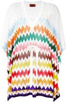 Missoni zig-zag print drawstring tunic - women - Viscose - 40