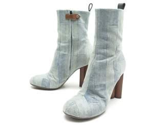 Louis Vuitton Silhouette Blue Cloth Ankle boots