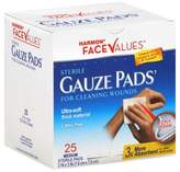 Harmon® Face ValuesTM 25-Count 3-Inch x 3-Inch Sterile Gauze Pads