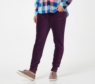 Denim & Co. Tall Smooth Waist Knit Cord Leggings with Pockets