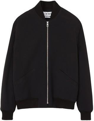 Loewe Black Daisy Bomber Jacket