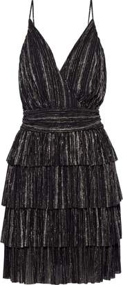 Vanessa Bruno Jennie Tiered Striped Gauze Mini Dress