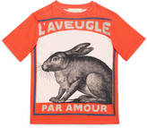 Gucci Children's rabbit print t-shirt