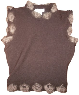 Christian Dior Brown Wool Top for Women Vintage