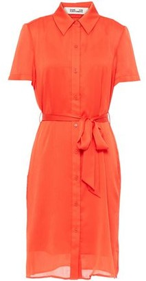 Diane von Furstenberg Belted Crepon Shirt Dress