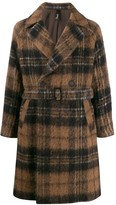 Hevo plaid pattern coat