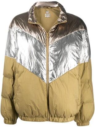 Etoile Isabel Marant Contrast-Panel Puffer Jacket