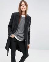 Asos Wool Blend Slim Coat With Pocket Detail