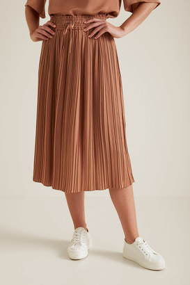 Seed Heritage Pleat Detail Skirt