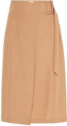 ST. AGNI Cella Belted Linen-Blend Skirt