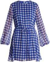 Diane von Furstenberg Cossier-print drawstring-waist silk dress