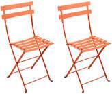 Fermob Paprika Bistro Metal Chairs - Set of 2