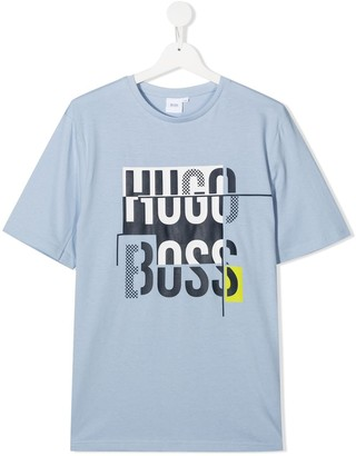 Boss Kidswear logo print T.shirt