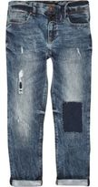 River Island Boys blue distressed Dylan slim jeans