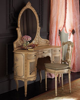 Cane Dressing Table and Chair