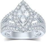 JCPenney MODERN BRIDE 2 CT. T.W. Fancy-Cut Diamond Marquise-Shaped 14K White Gold Ring