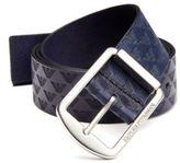 Emporio Armani Stamped Eagle Leather Belt