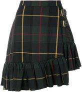 Manoush asymmetric tartan skirt