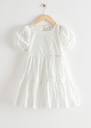 And other stories Kids Tiered Puff Sleeve Dress