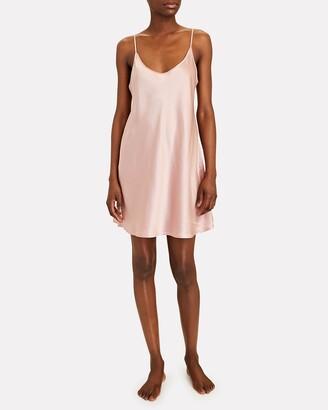 Silk Mini Slip Dress