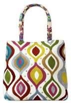 Aari Embroidery Handcrafted Multi Print Cotton Tote Handbag, 'Color Melange'