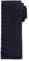 Tom Ford Striped Knit Silk Tie, Blue