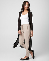 Le Château Rib Knit Open-Front Duster Cardigan